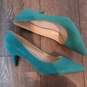 Light Blue Nine West Kitten Heels Size 7